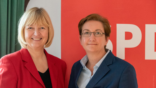 Andrea Schröder-Ehlers und Klara Geywitz