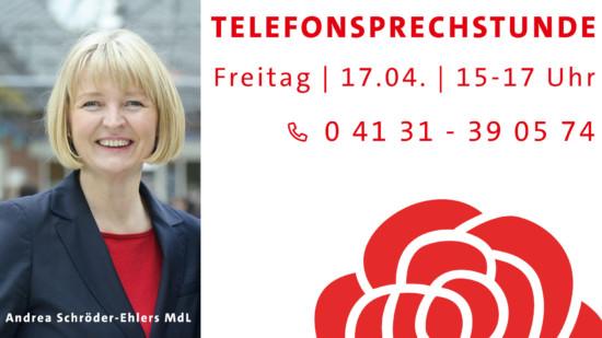 Telefonsprechstunde mit Andrea Schröder-Ehlers