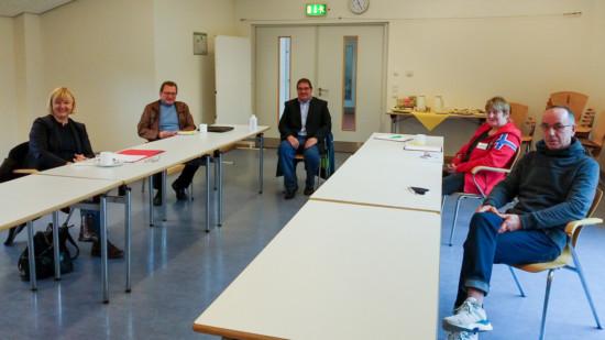 Andrea Schröder-Ehlers mit Undine Bendt und Dirk Moldenhauer, sowie Norbert Dettmer und Detlev Loos