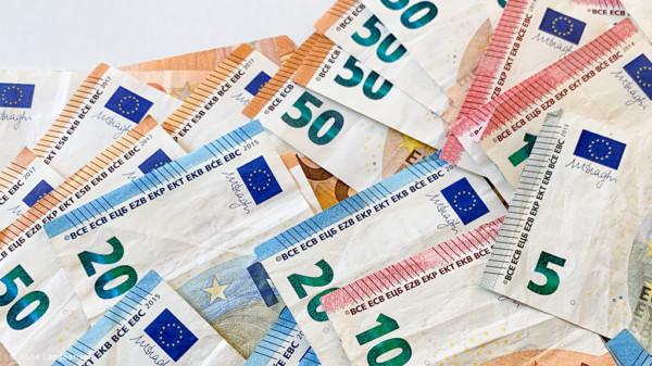 Geldschein im Wert von 5, 10, 20 und 50 Euro