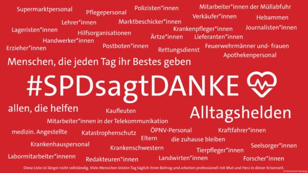 #SPDsagtDANKE Aktion UB Lüneburg