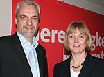 SPD-Landesvorsitzender Garrelt Duin und Landtagskandidatin Andrea Schröder-Ehlers – Foto: Marco Sievers