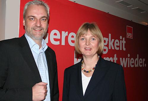 Garrelt Duin und Andrea Schröder-Ehlers – Foto: Marco Sievers